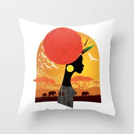 The Cradle of Civilization Throw Pillow