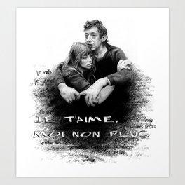 Je t'aime - Jane Birkin & Serge Gainsbourg Art Print
