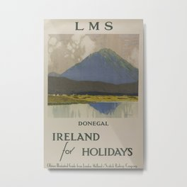 Donegal Ireland for Holidays Vintage Travel Poster Metal Print