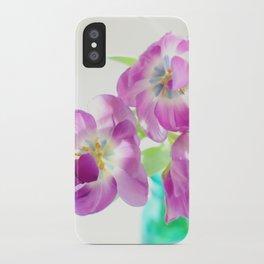 Violet Tulips iPhone Case