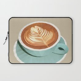 Coffee with Latte Art Polygon Art Laptop Sleeve