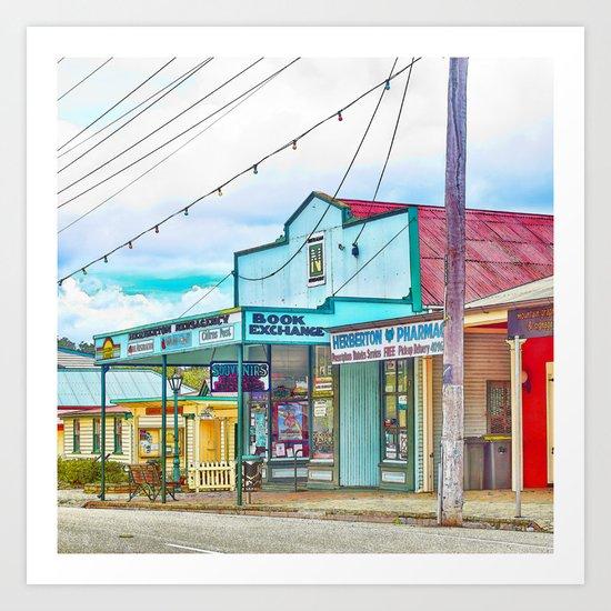 Welcoming village shop Art Print
