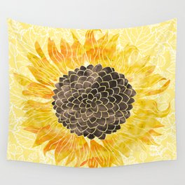 Sunflower Yellow Wall Tapestry