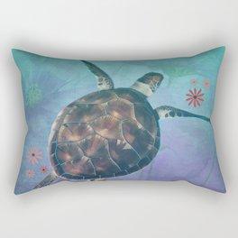 Sea Turtle Dreams Rectangular Pillow