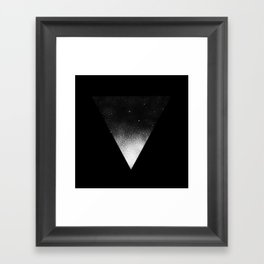 White Dot Triangle Framed Art Print