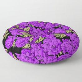 Purple Peonies Floor Pillow
