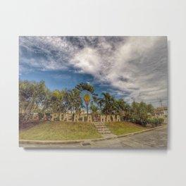 Puerta Maya Metal Print