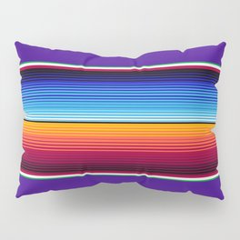 Traditional Mexican Serape in Purple Pillow Sham