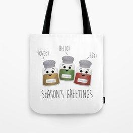 Season's Greetings | Garlic, Oregano & Paprika Tote Bag