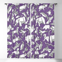 origami animal ditsy purple Blackout Curtain