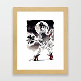 Casual Vampire Framed Art Print