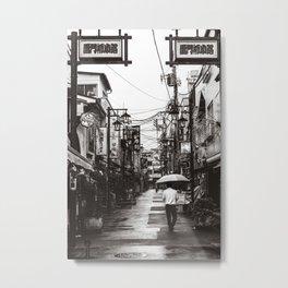 Walking under the rain in Tokyo Metal Print