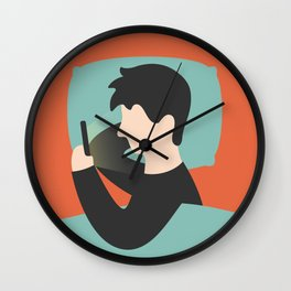 Urban Hermit - Procrastination Wall Clock