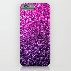 Purple Pink Ombre glitter sparkles iPhone 6 Slim Case