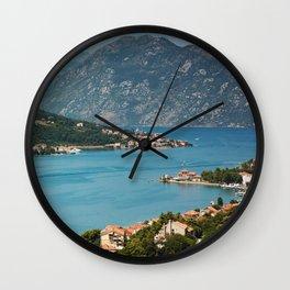 Bay Of Kotor Wall Clock