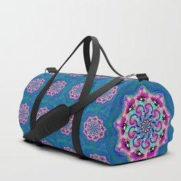 Spider Eye Mandala - Blue BG Duffle Bag
