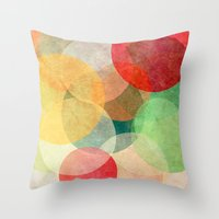 georgiana paraschiv Throw Pillows featuring The Round Ones by Anai Greog