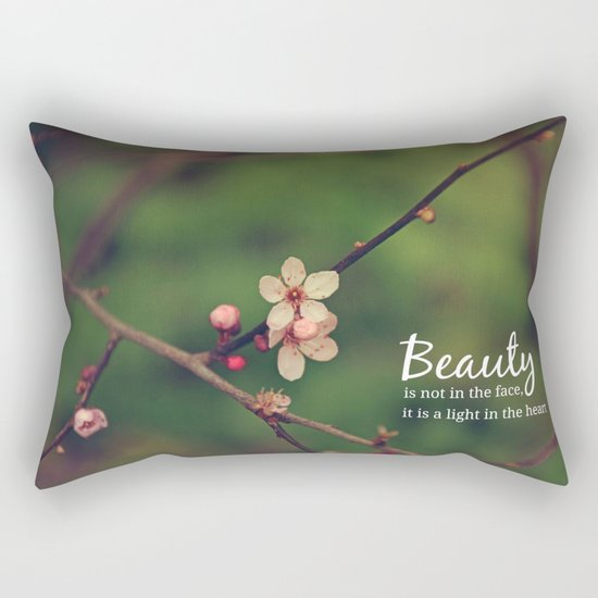 Beauty is in the heart Rectangular Pillow
