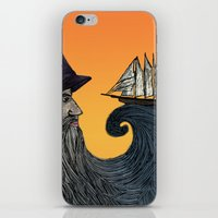 wizard iPhone & iPod Skins featuring Wizard by Brittany Rae
