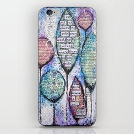 Inspirational Canvas Print iPhone Skin