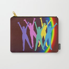 joyful man and rainbow . Art Carry-All Pouch