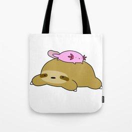 Axolotl and Sloth Tote Bag