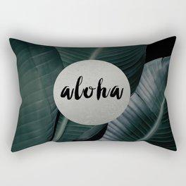 Aloha silver - banana leaf Rectangular Pillow