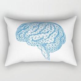 blue human brain Rectangular Pillow