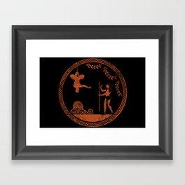 Greek style Spiderman Framed Art Print