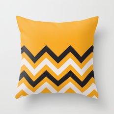 Orange Zigzag Throw Pillow