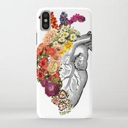 Flower Heart Spring White iPhone Case
