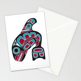 Pacific Northwest Coast Orca Whale Haida Art - Native American Tribal Stationery Cards