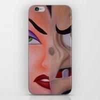 evil queen iPhone & iPod Skins featuring Evil Queen by Jgarciat