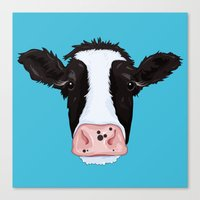 cow Canvas Prints featuring Cow by Compassion Collective