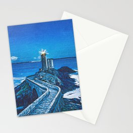 The Guiding Light Of The Petit Minou Lighthouse Stationery Cards