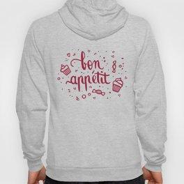 Bon appétit - calligraphy (pink) Hoody