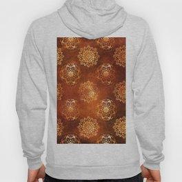 Copper brown and gold circle mandala pattern Hoody