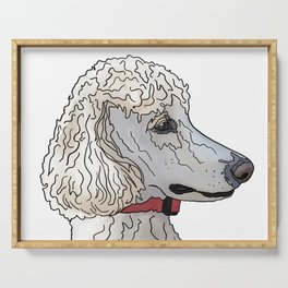 Kyah the White Standard Poodle Serving Tray