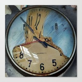 MELTED CLOCK Canvas Print