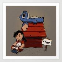 lilo and stitch Art Prints featuring Lilo & Stitch by le.duc