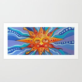 Sun For Vilaró Art Print
