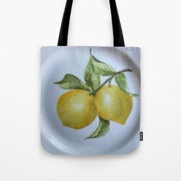 Lemon Botanical Tote Bag