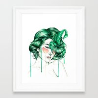 "scorpio Framed Art Prints featuring ""Scorpio"" by Mia Desu"
