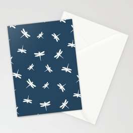 dragonflies on petrol blue Stationery Cards