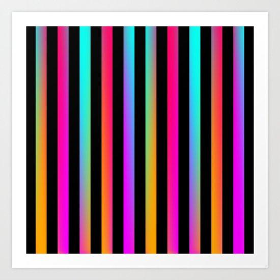Neon Stripes Art Print By Ornaart Society6