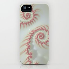 Candy Cane Swirl Pastel - Fractal Art iPhone Case
