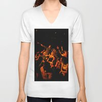 it crowd V-neck T-shirts featuring The crowd by Old Sole Studio