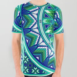 Sacred Places Green All Over Graphic Tee