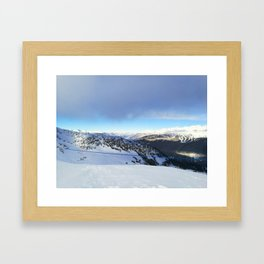 The views behind the blue rope Framed Art Print