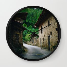 Cottages (Color) Wall Clock